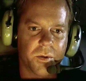 Jack Bauer (24 season 2, episode 15) explains to his daughter on the phone that he is on a suicide mission to fly a nuclear bomb that couldn't be diffused to a remote desert location where its detonation will do the least damage.